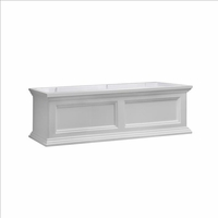 Fairfield Window Flower Box 3ft in White (includes wall mount brackets)