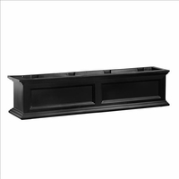 Fairfield Window Flower Box 4ft in Black (includes wall mount brackets)