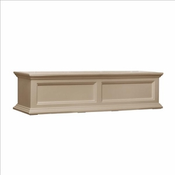 Fairfield Window Flower Box 4ft in Clay (includes wall mount brackets)