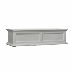 Fairfield Window Flower Box 4ft in White (includes wall mount brackets)