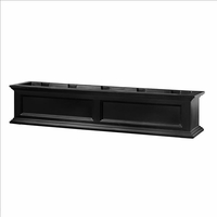 Fairfield Window Flower Box 5ft in Black (includes wall mount brackets)