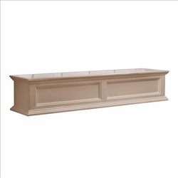 Fairfield Window Flower Box 5ft in Clay (includes wall mount brackets)