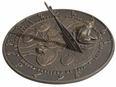 Frog Sundial - Oil Rub Bronze
