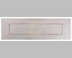 "Front and Rear Stainless Steel Mail Slot (small) 11.8"" x 3"" - Mirror Polished"