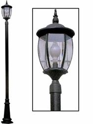 Front Yard Lamp Post with Yard Light