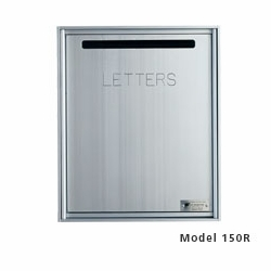 Fully Recessed, Front Loading Mail Collection Drop Box - Anodized Aluminum