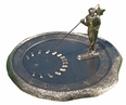 Golfer Sundial - Oil Rub Bronze