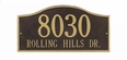 Grand Size Rolling Hills Wall Plaque - (1 or 2 lines)