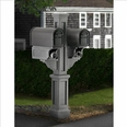 Granite Rockport Double Arm Mailbox Package
