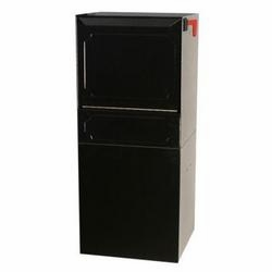 High Security Package Delivery Locking Parcel Mailbox with Post Option - Black