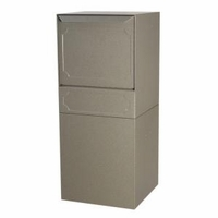 High Security Package Delivery Locking Parcel Mailbox with Post Option - Gray