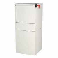High Security Package Delivery Locking Parcel Mailbox with Post Option - White