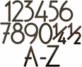 House Numbers & Letters Bronze Contemporary 5 Inch
