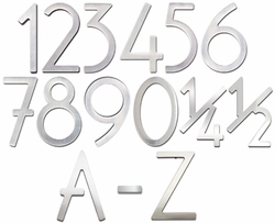 House Numbers & Letters Brushed Raw Stainless Steel Contemporary 5 Inch