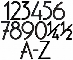 House Numbers & Letters Satin Black Contemporary 5 Inch