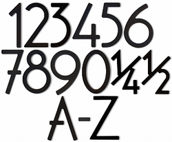 House Numbers & Letters Satin Black Contemporary 8 Inch