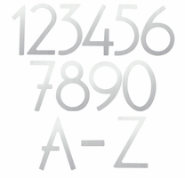 House Numbers & Letters Satin Nickel Contemporary 8 Inch