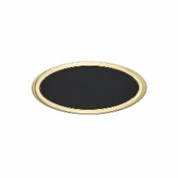 Housemark Large Roundtangle Address Plaques Black with Brass