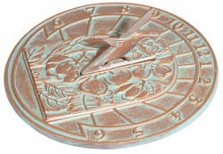 Hummingbird Sundial - Oil Rub Bronze