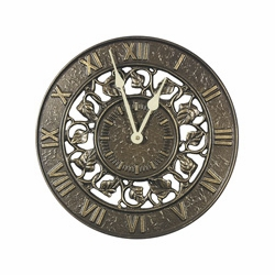 Ivy Silhouette Clock - Copper Verdi