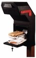 Large Black Locking Mail-Guard Plastic Mailbox