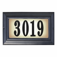 LARGE Lighted Address Plaque Black Frame