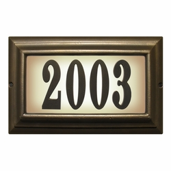 LARGE Lighted Address Plaque French Bronze Frame