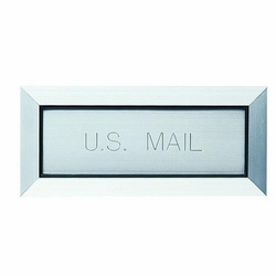 Letter Drop, Mail Slot Engraved 'U.S. Mail' - Anodized Aluminum