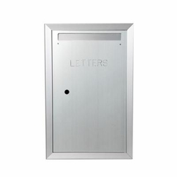 "Letter Mailbox Model 130 Fully Recessed, 6-1/2"" Deep, Anodized Aluminum"