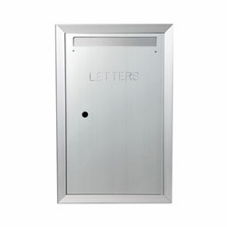 "Letter Mailbox Model 130 Semi-Recessed, 4"" Deep, Anodized Aluminum"