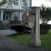 Liberty Mailbox Post in Granite
