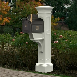 White Liberty Mailbox Package