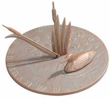 Loon Sundial - Copper Verdi