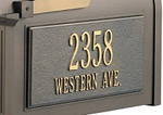 Mailbox Personalized Side Plaque (Sold Individually - Order Qty of 2 for Set)