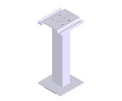 "Tall replacement pedestal for American Locker ""E"" Series CBU"
