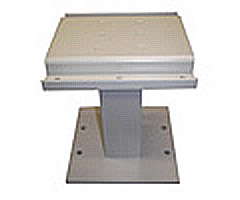"Short metal replacement pedestal for American Locker ""E"" Series CBU"