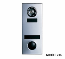 Model 686 Door Chime w/ Mirror Silver Finish