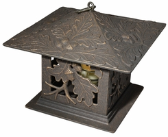 Oakleaf Tea Lantern - Oil Rub Bronze