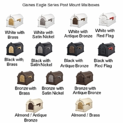 Original Keystone Series Mailbox & Deluxe Double Mount Post Packages