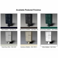 "Pedestal - 14.5""H x ...""W - for Type III & Type IV Specify Finish Required"
