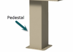 Replacement Pedestal for 1575 Type III & IV CBU