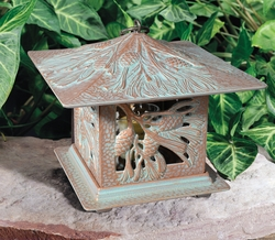Pinecone Tea Lantern - Copper Verdi