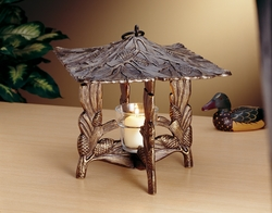 Pinecone Twilight Lantern - Copper Verdi