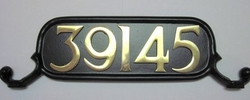 Please Adhere all Brass Numbers to Plate