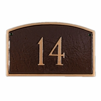 Prestige Address Plaque 1 Line Petite Wall Mount