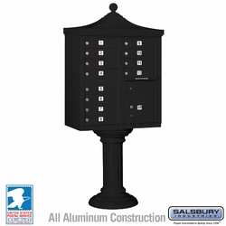 Regency Decorative 12 Door CBU - Cluster Mail Box - Black