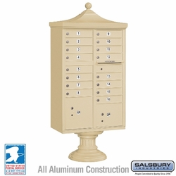 Regency Decorative 16 Door CBU - Cluster Mail Box - Sandstone