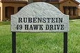 Ridgecrest (arch), in White Granite solid granite plaque w/Engraved Text