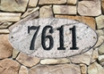 Rockport (oval) in Five Color granite plaque w/Engraved Text