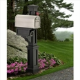 Rockport Single Mailbox Post Black